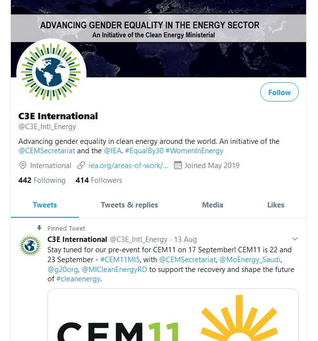 C3E_Intl_Energy twitter account