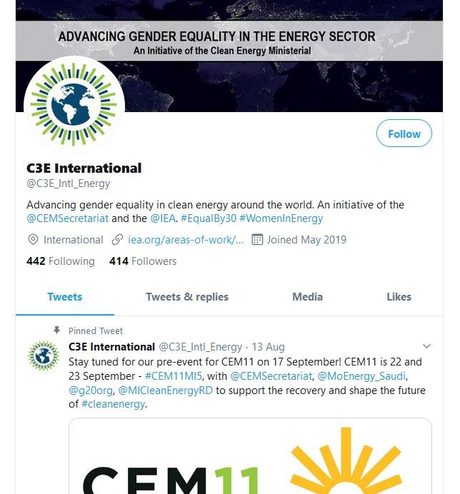 C3E_Intl_Energy twitter account